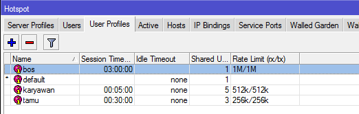 Tutorial Konfigurasi Manajemen User Hotspot